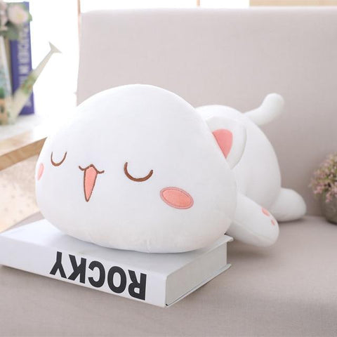 Image of Cute Cat Plush Toy in white colour
