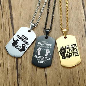 New Black Lives Matter Necklace and Pendants from Almas Collections