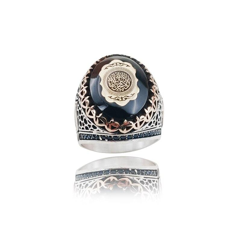 925 Sterling Silver Islamic Style Ring from Almas Collections