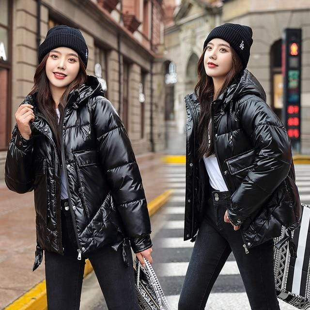 Winter Short Parkas Jackets in Black from Almas Collections