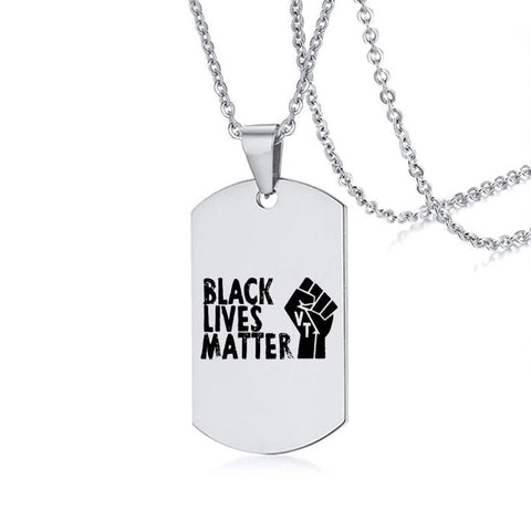 Black Lives Matter Necklace and Pendants in Silver from Almas Collections