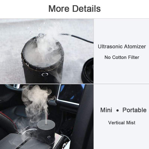 Image of Ultrasonic Aroma Diffuser for Car from Almas Collections