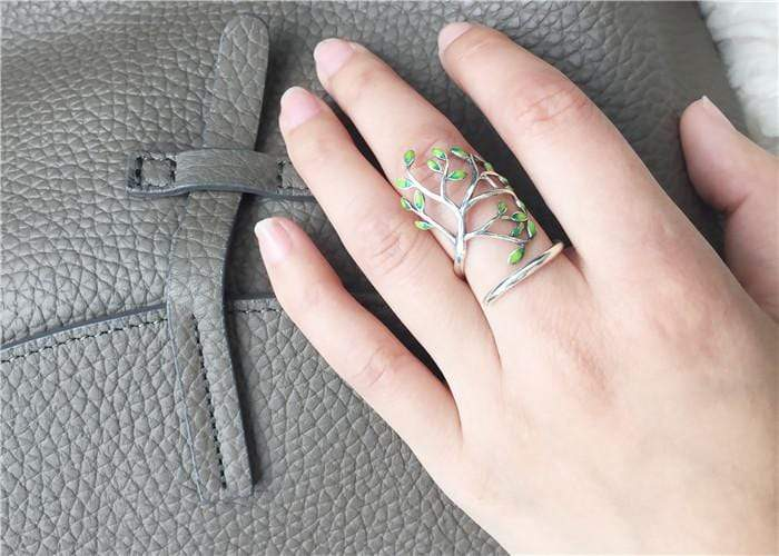 New Almas Collections Real 925 Sterling Silver Drop Glaze Leaves Original Ring NS3 VAL1 Almas Collections  New Almas Collections Real 925 Sterling Silver Drop Glaze Leaves Original Ring
