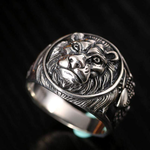 Real Vintage 925 Sterling Silver Lion Ring for Men by Almas Collections NS3 - Almas Collections