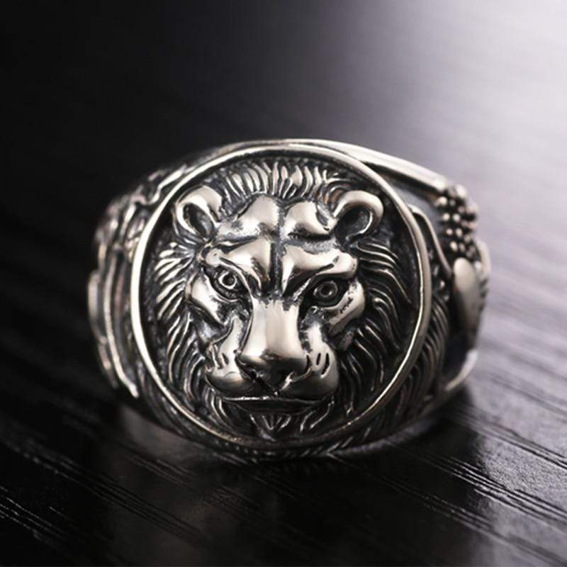 Real Vintage 925 Sterling Silver Lion Ring for Men by Almas Collections NS3 | Almas Collections |