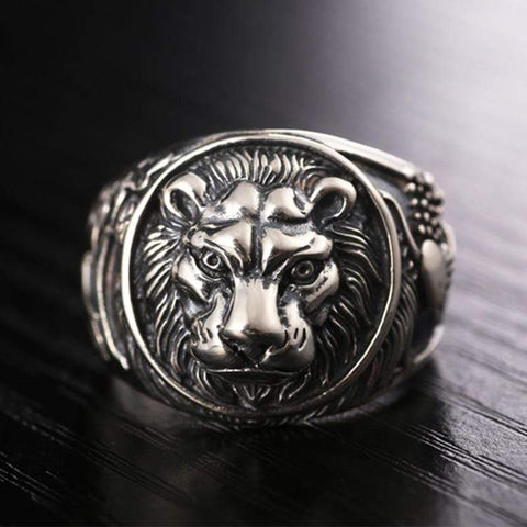 Image of Real Vintage 925 Sterling Silver Lion Ring for Men by Almas Collections NS3 | Almas Collections |