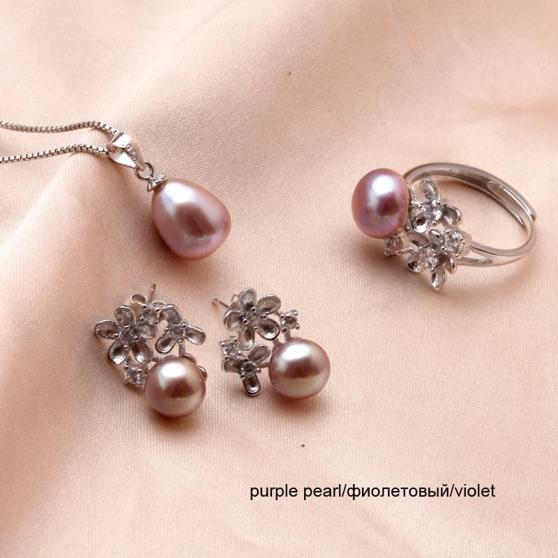 New Real Freshwater Pearl Jewelry Sets NS2 VAL1 IS1 IS2 Almas Collections  pearl