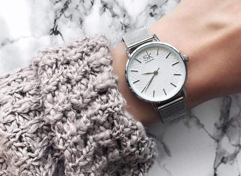 Image of New Super Slim Sliver Mesh Stainless Steel Watches Women AW2 Almas Collections