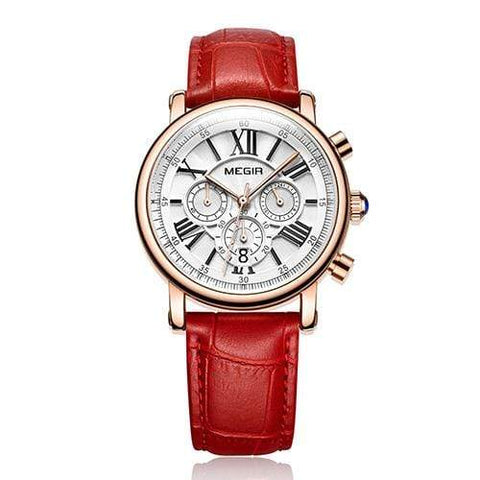 New Women's Leather Strap Watch AW2 Almas Collections