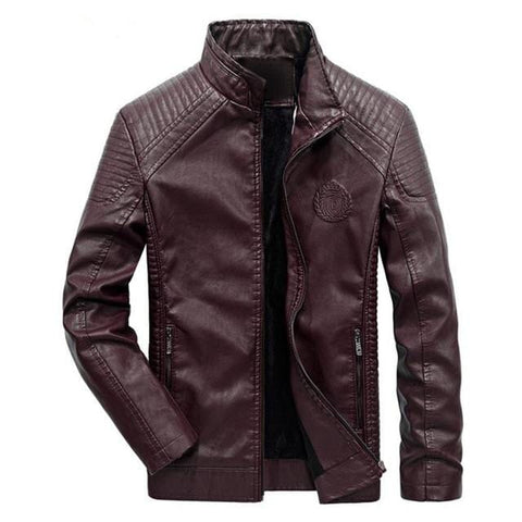 Image of New Men's Classic Leather Jacket AW1 Almas Collections