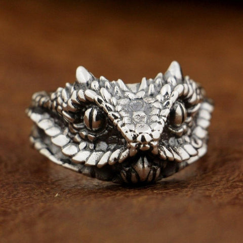New 925 Sterling Silver Snake Ring from Almas Collections