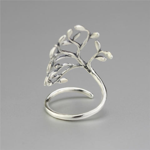 New Almas Collections Real 925 Sterling Silver Drop Glaze Leaves Original Ring NS3 VAL1 - Almas Collections