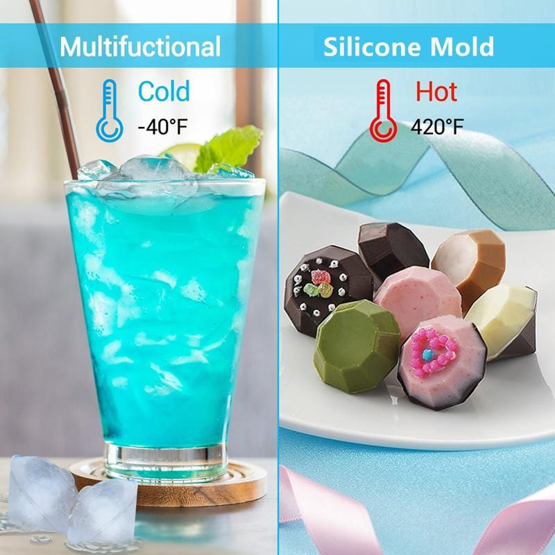 New Creative Silicone Ice Cube Maker - Diamond Shape e1 E1 HM1 Almas Collections