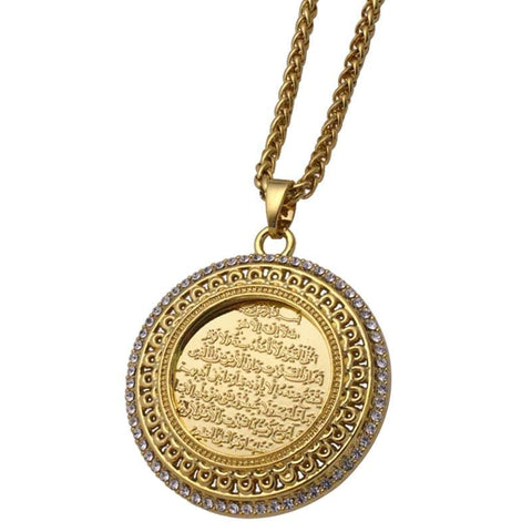 Image of New AYATUL KURSI crystal Pendant necklace for Men and Women NS2 IS1 IS2 | Almas Collections |