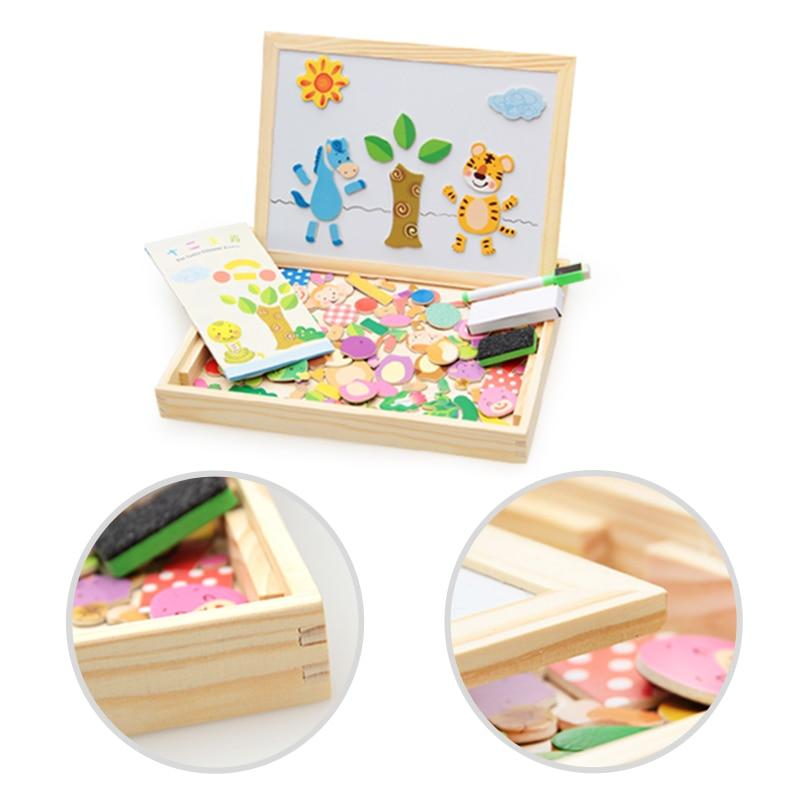 New 100+PCS Wooden Magnetic Puzzle in 5 styles KS1 Almas Collections  wood puzzle