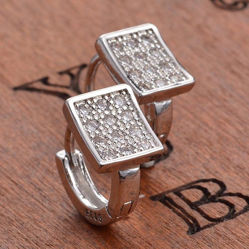 New Stud Earrings Crystal Luxury 925 Sterling Silver Earrings NS2 IS2 Almas Collections  New Stud Earrings 925 Sterling Crystal Luxury Silver Earrings