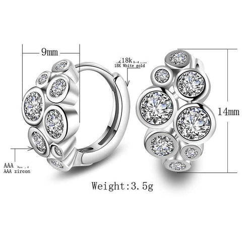 Image of New Stud Earrings Crystal Luxury 925 Sterling Silver Earrings NS2 IS2 Almas Collections  New Stud Earrings 925 Sterling Crystal Luxury Silver Earrings