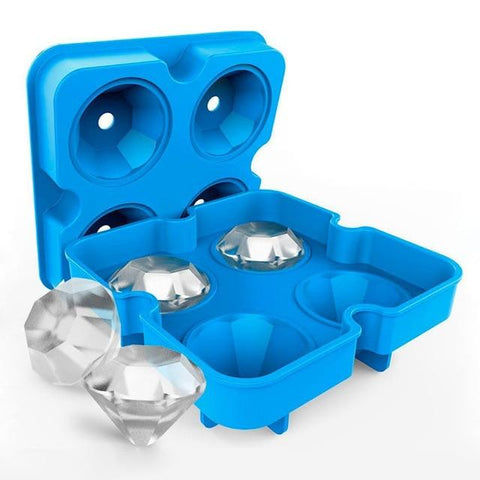 Image of New Creative Silicone Ice Cube Maker - Diamond Shape e1 E1 HM1 Almas Collections