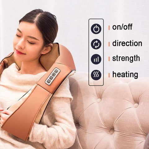 Image of New Home &  Car Shiatsu Body Massager E1 e1 Almas Collections  New Home & Car Shiatsus Body Massager