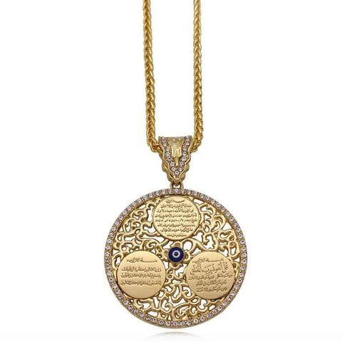 Image of New Ayatul Kursi Pendant Necklace from Almas Collections