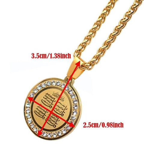 Four Qul Suras Necklace & Pendant chain Almas Collections