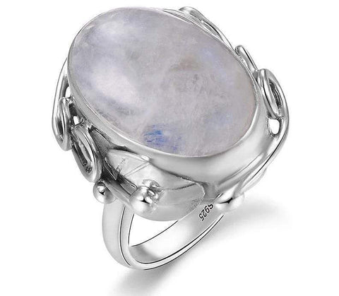 Image of New Vintage 925 Sterling Silver MoonStone Ring from Almas Collections