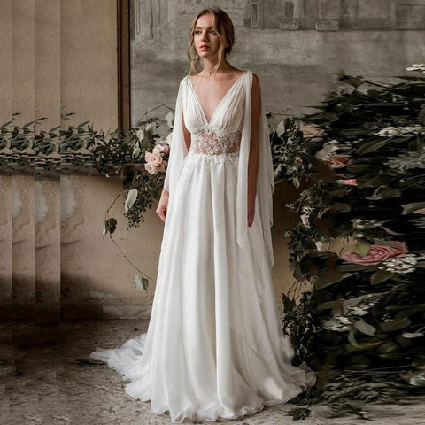 New Arab Beach Style Wedding Dress 2020 from Almas Collections
