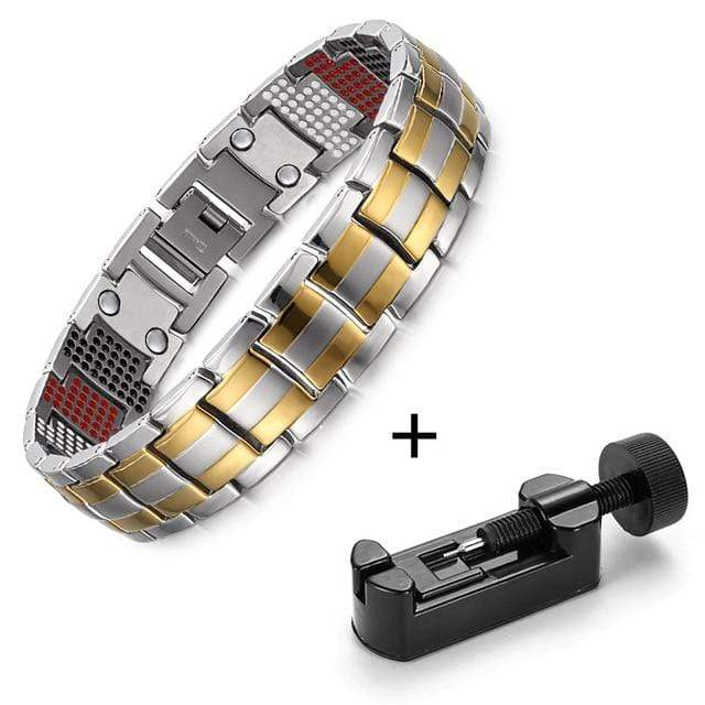 New Germanium Magnetic H Power Titanium Bracelet NS3 VAL1 Almas Collections