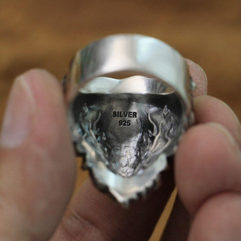 Image of New Lion Real 925 Sterling Silver Ring NS3 IS1 IS2 VAL1 Almas Collections  men real 925 sterling silver ring