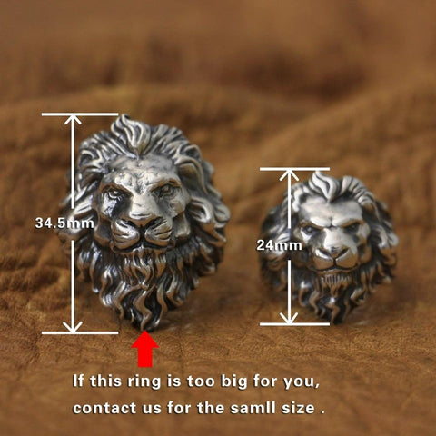 New Lion Real 925 Sterling Silver Ring NS3 | Almas Collections |