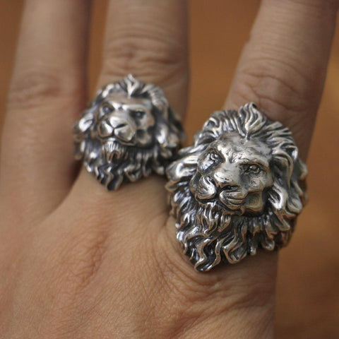 New Lion Real 925 Sterling Silver Ring NS3 IS1 IS2 VAL1 Almas Collections  men real 925 sterling silver ring
