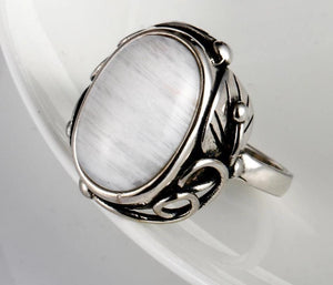 New Vintage 925 Sterling Silver MoonStone Ring from Almas Collections