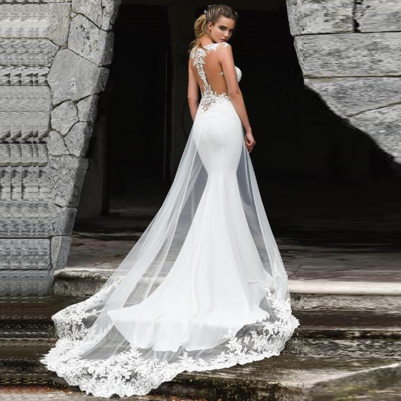 New Lace Appliques Mermaid Wedding Dress from Almas Collections