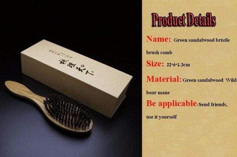 Image of Sandalwood and Wild Boar Bristles Hair Brush