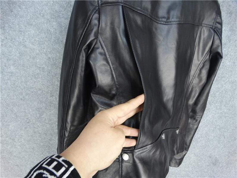 New Genuine Leather Slim Biker Chick Jackets quality leather from Almas Collections