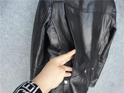 Image of New Genuine Leather Slim Biker Chick Jackets quality leather from Almas Collections
