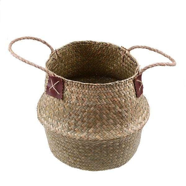 New Eco Friendy Wicker Rattan Flower Planter Basket HM1 hm1 Almas Collections