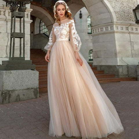 Tulle Boho Wedding dress from Almas Collections