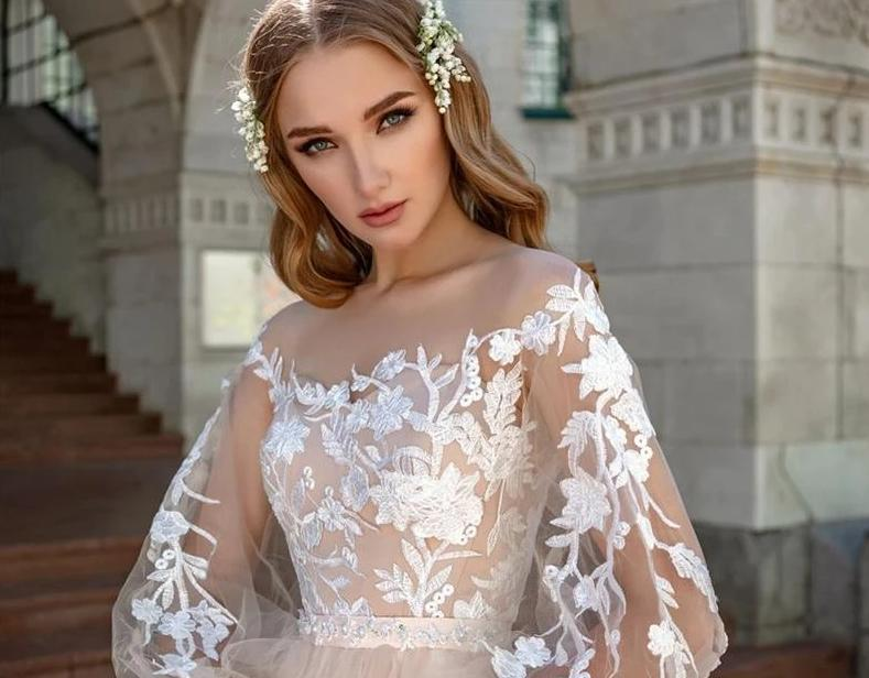 Tulle boho fairy tale wedding dress from Almas Collections