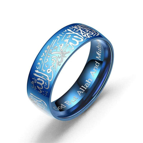 Image of Stainless Steel Women/Men Black Blue Gold Color Rings IS1 | Almas Collections |