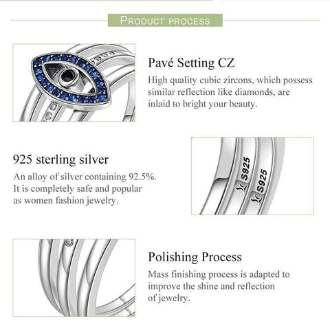 Image of Sterling Silver lucky protection ring for Women IS1 Almas Collections rings