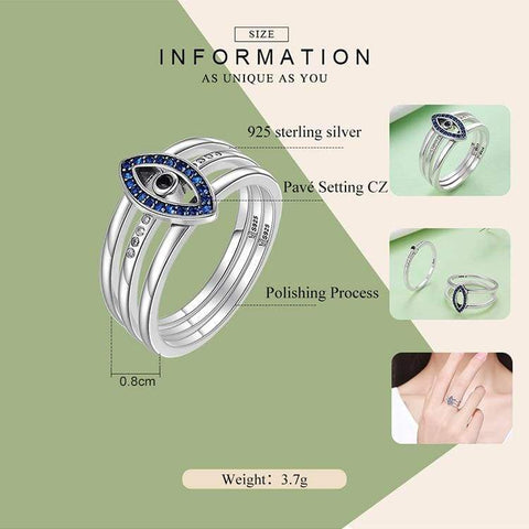 Image of Sterling Silver lucky protection ring for Women IS1 | Almas Collections |