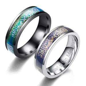 Image of Temperature Mood Change Color Muslim ring IS1 Almas Collections  Temperature Mood Change Color Muslim ring