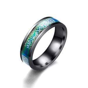 Temperature Mood Change Color Muslim ring IS1 Almas Collections  Temperature Mood Change Color Muslim ring