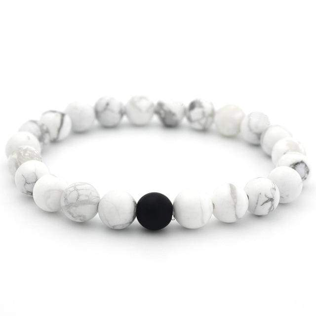 Trendy Round Natural Stone Bracelets NS3 Almas Collections other bracelets