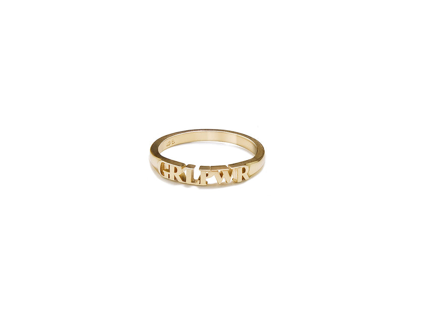 Gold GRL PWR Ring (small)
