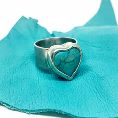 Sterling Silver Turquoise Heart Ring