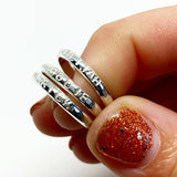 Rustic Stacking Rings -Custom Stamping