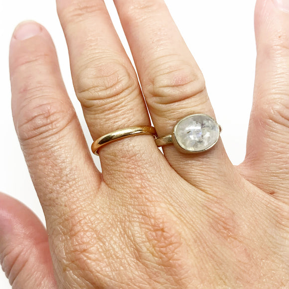 Limited Edition: Oval Rainbow Moonstone Ring