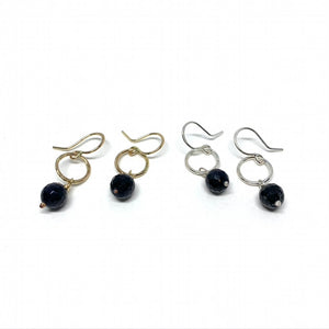 Sapphire Gemstone Drop Earrings